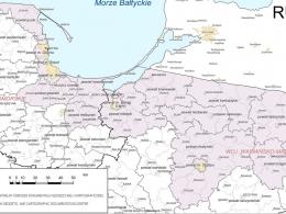 Карта МПП Польша Калининград и область