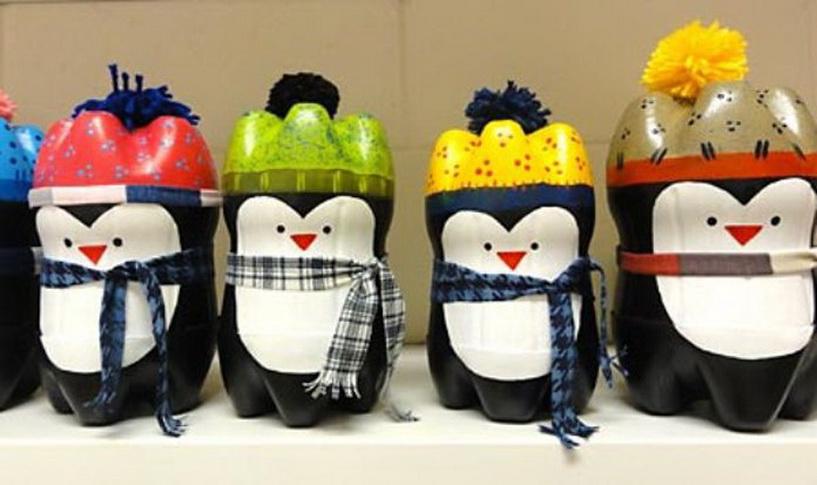Пингвин из пластиковой бутылки своими руками