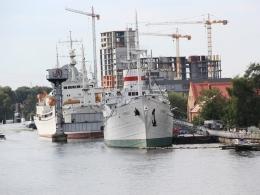Калининград, музей Мирового океана, набережная исторических судов